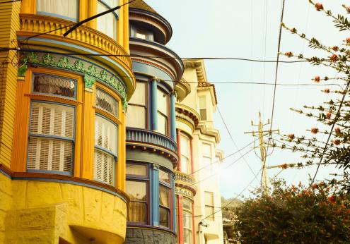 Homes, Haight Ashbury, San Francisco, USA