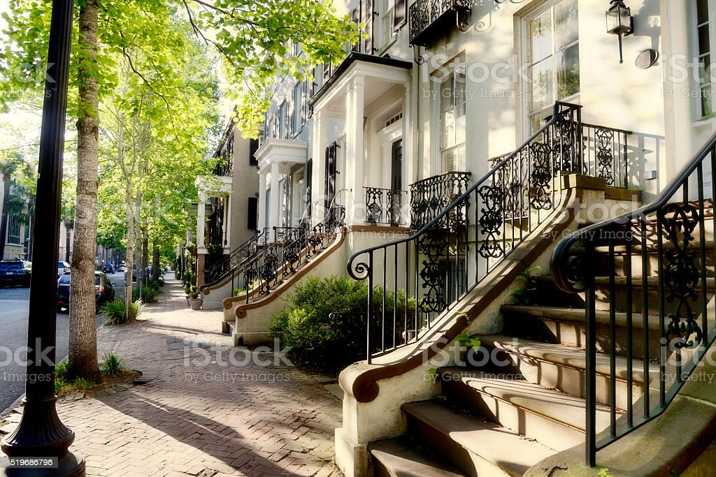 Homes, Savannah stock photo