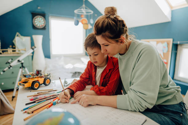 Homeschooling stock photo