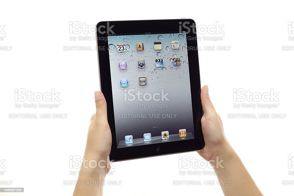 Homescreen on Apple iPad royalty-free stock photo