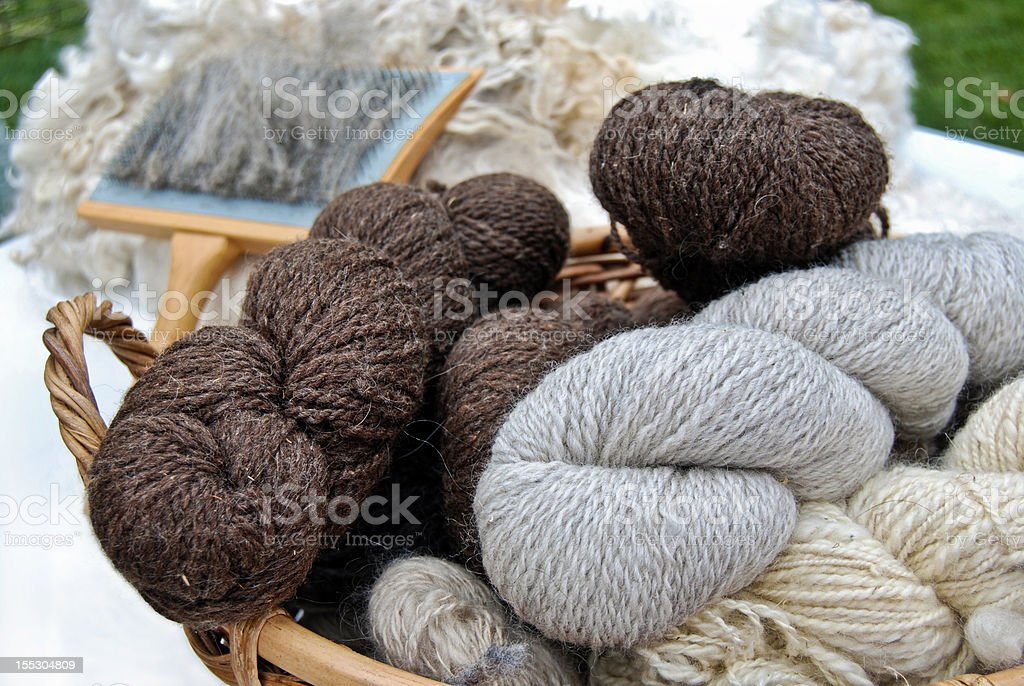 Homespun Yarn stock photo