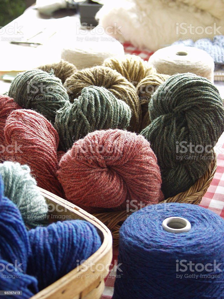 Homespun Yarn royalty-free stock photo