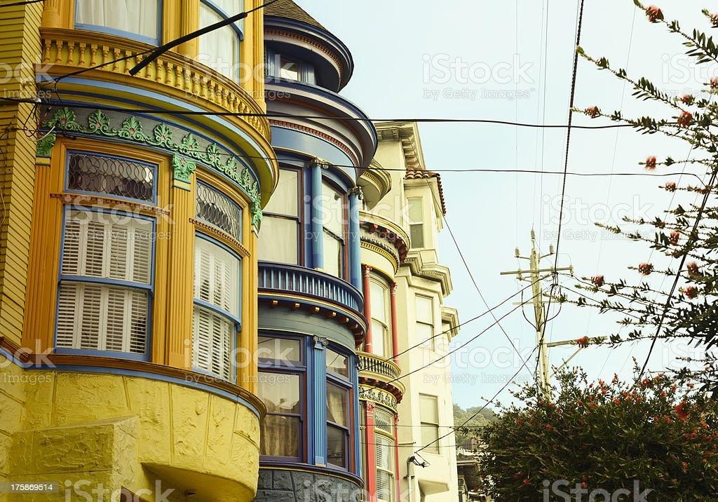 Homes,San Francisco stock photo