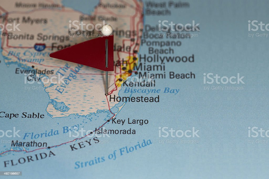 Map Homestead Florida.Homestead Fl Usa Cities On Map Series Stock Photo More Pictures Of