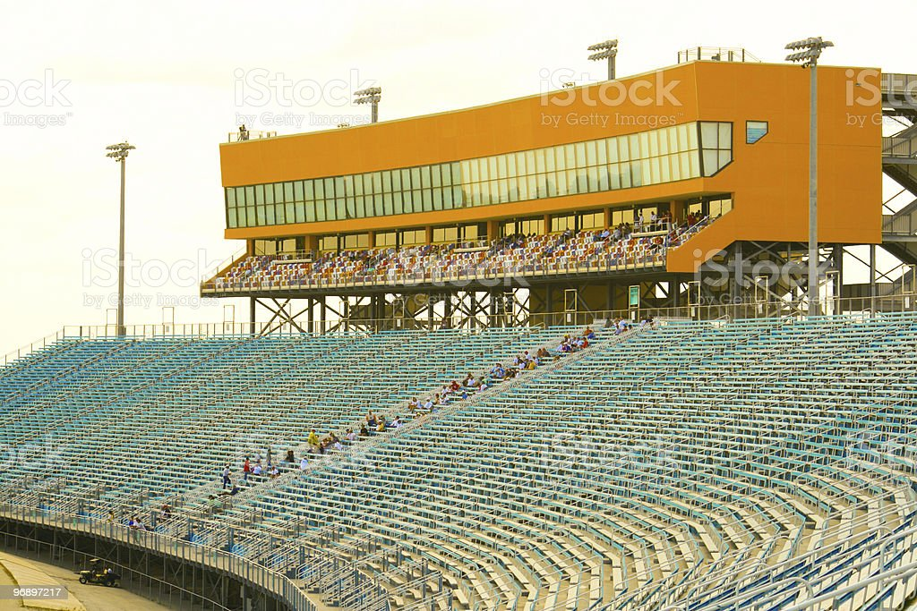 Homestead Miami Speedway Grandstand royalty-free stock photo