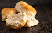 istock Homestyle Buttermilk Biscuits on a Rustic Wooden Table 1152727714