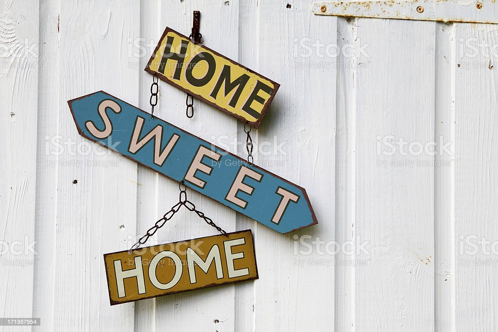 Home-Sweet-Home on left stock photo