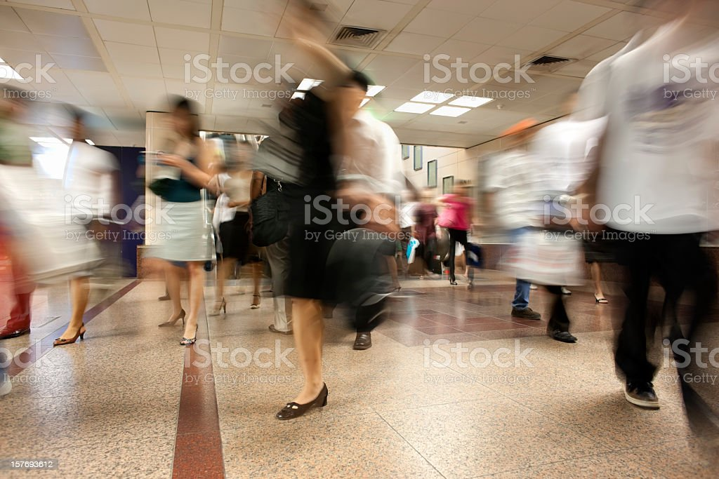 Homeward bound in rush hour. royalty-free stock photo