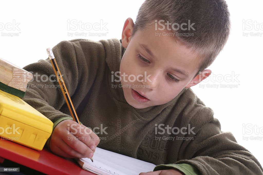 Homework boy royalty-free stock photo