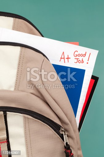 istock Homework or Test Paper: Good Job and A+ 172440931