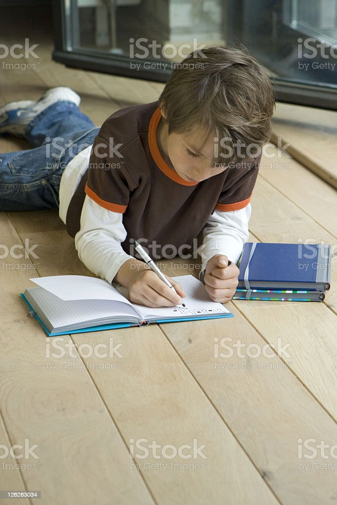Homework royalty-free stock photo