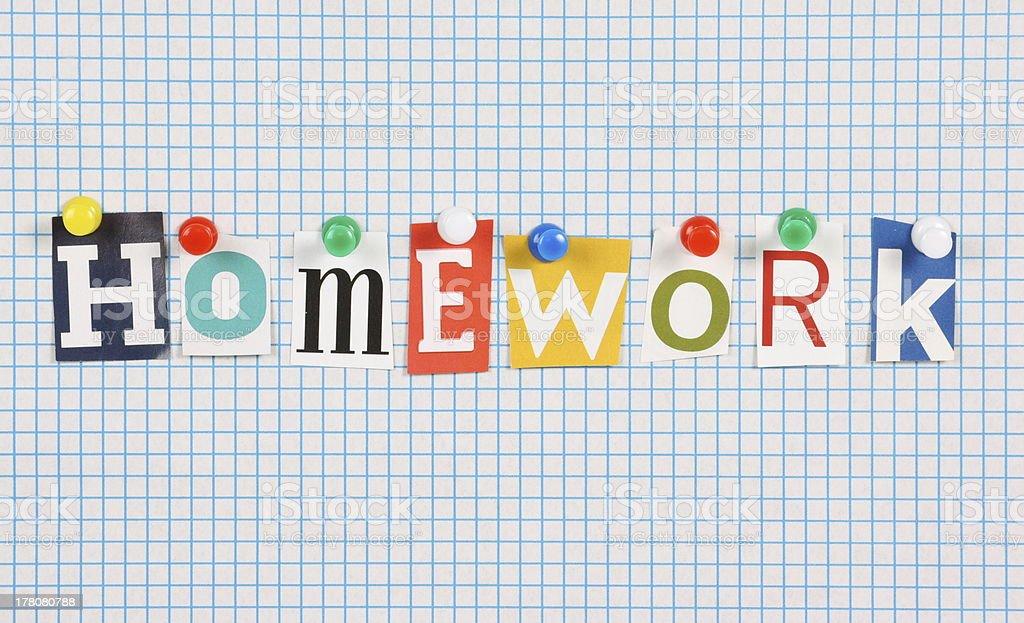 Homework royalty-free stock photo