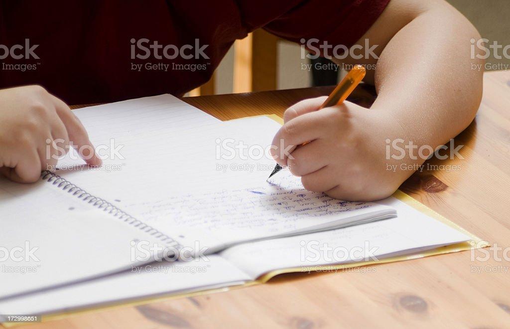 Homework Series royalty-free stock photo