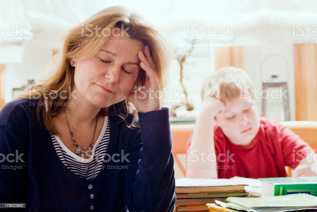 Homework Series stock photo