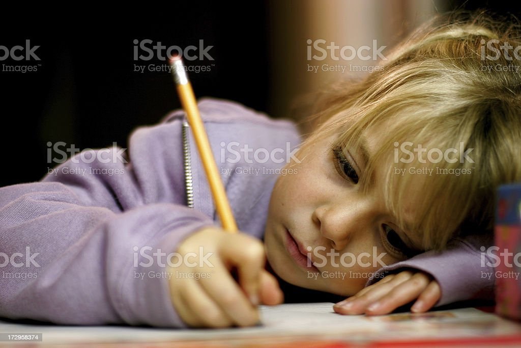 Homework Time stock photo