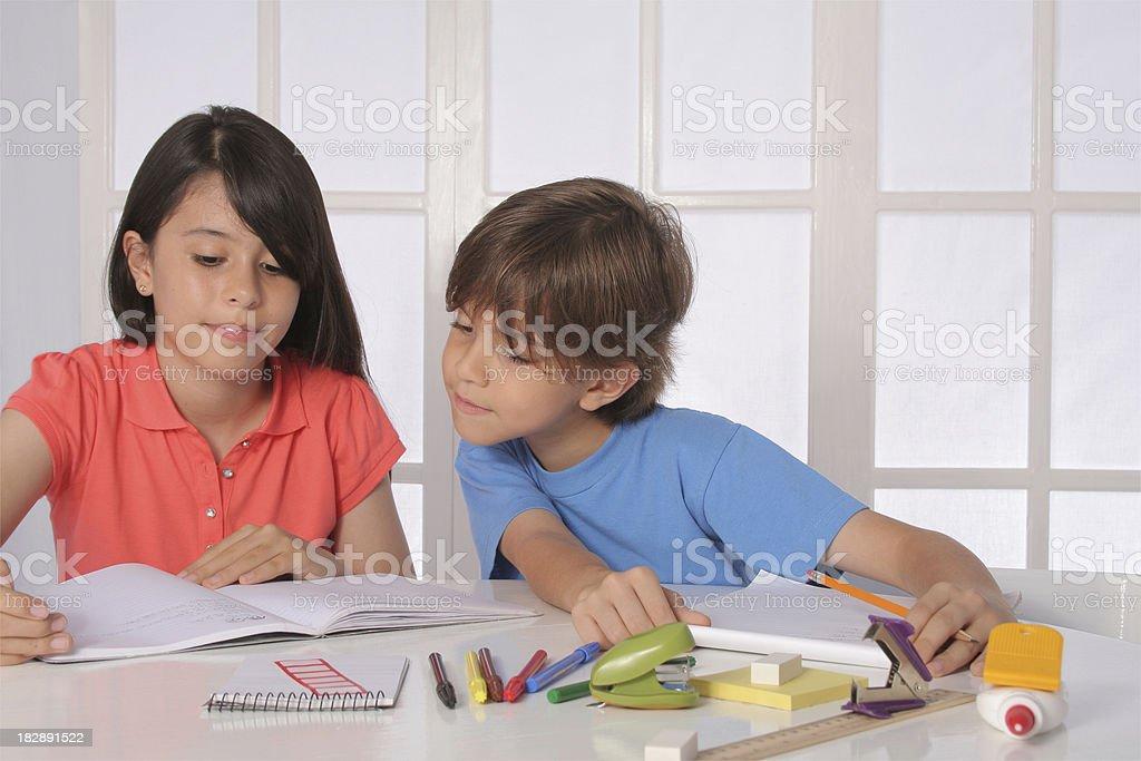 Homework Time royalty-free stock photo