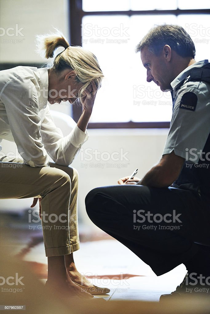 Homicide is a tragic business stock photo