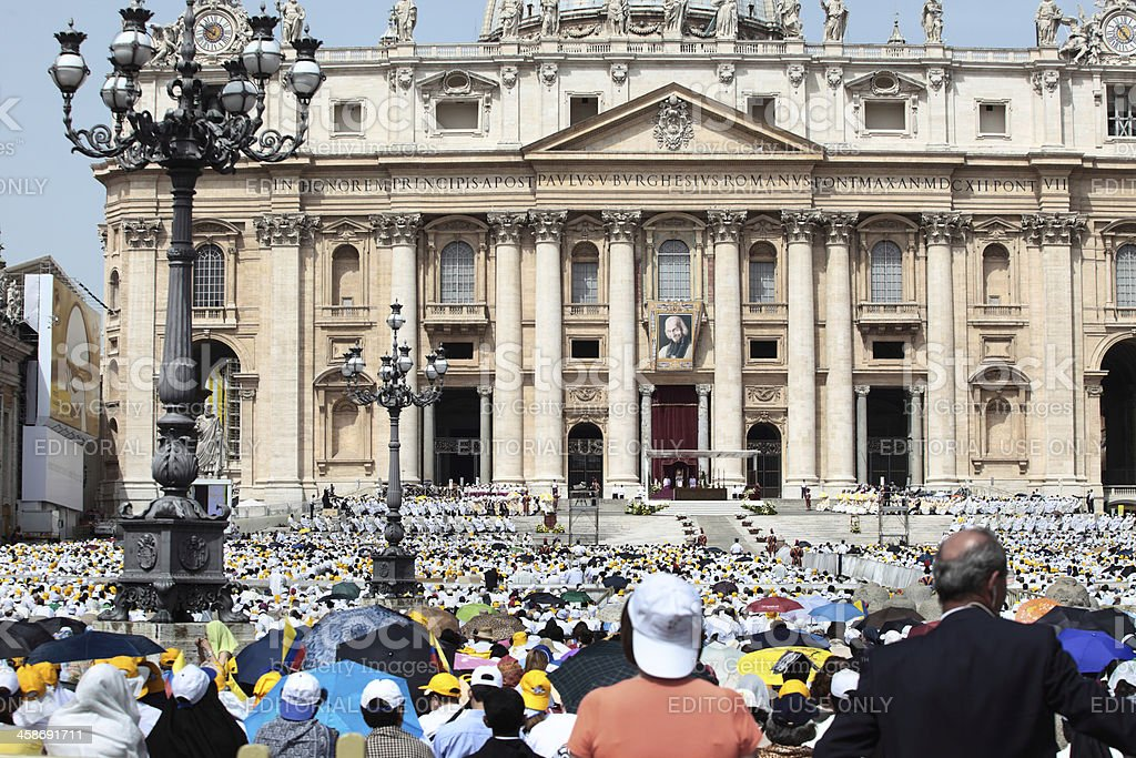 Homily of His Holiness Pope Benedict XVI stock photo