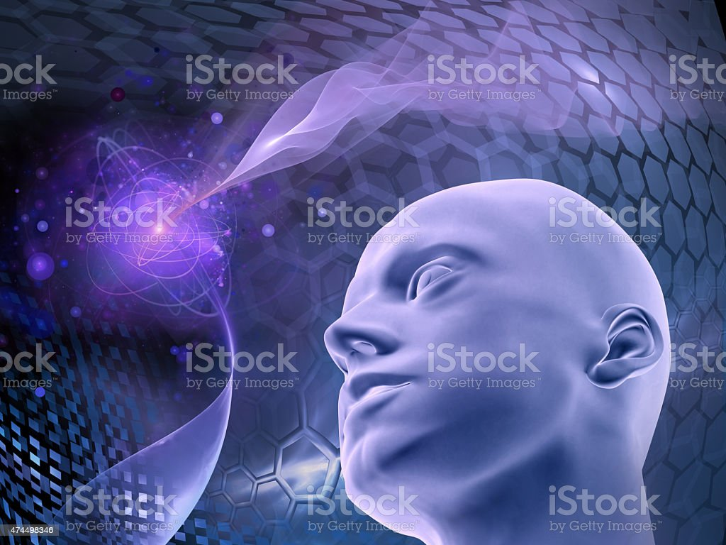 Homo sapiens - concept of reason, ideas, progress, science stock photo