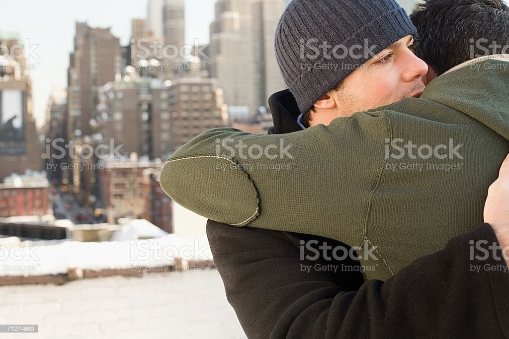 Homosexual couple embracing royalty-free stock photo