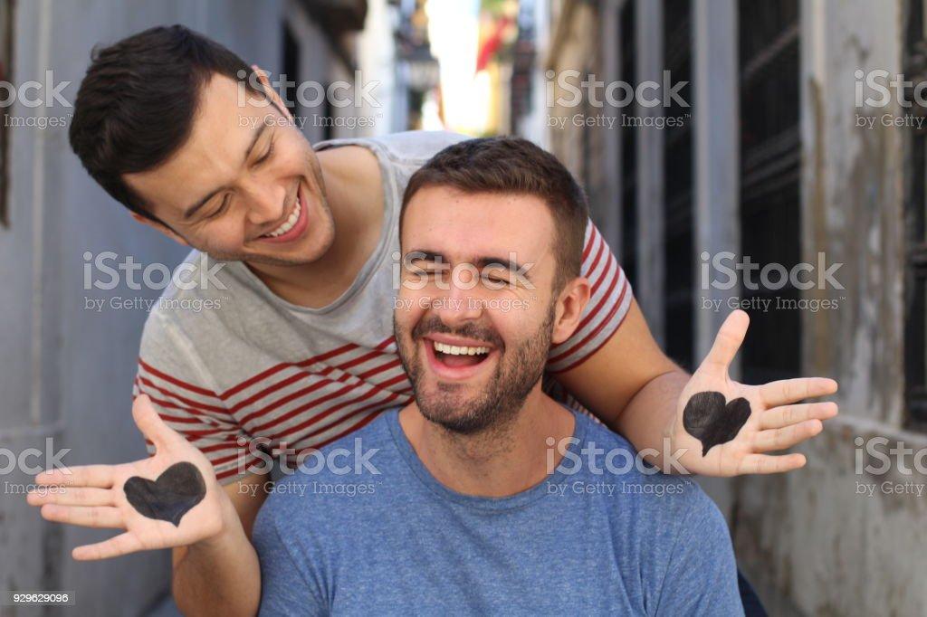 Interracial Gay Guys Have Fun
