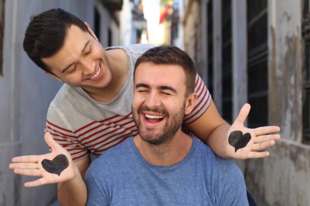 Interracial couple having sex