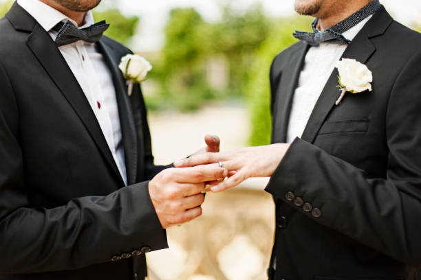 couple homosexuel ceremon de mariage - Photo