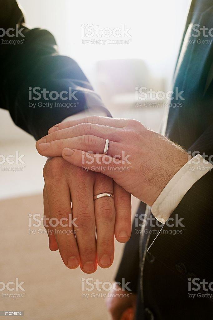 Homosexual couple wedding ceremony royalty-free stock photo