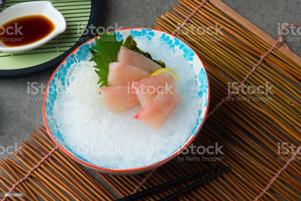 hon maguro ohtoro, fresh tuna fatty belly sashimi sushi royalty-free stock photo