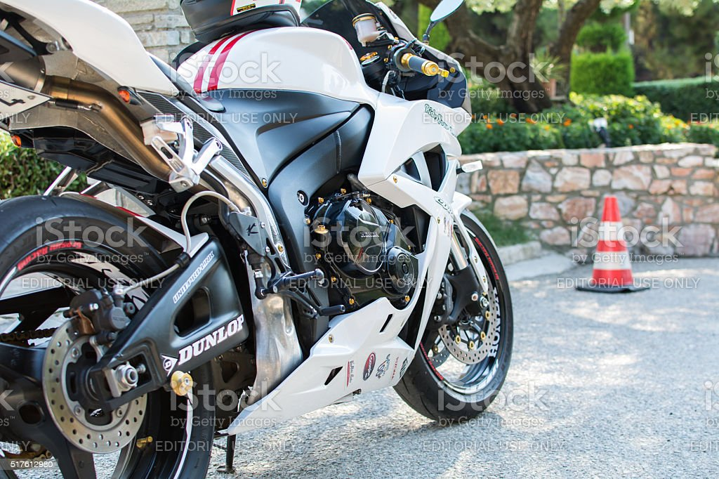 Honda 2007 CBR 1000RR white motorcycle stock photo