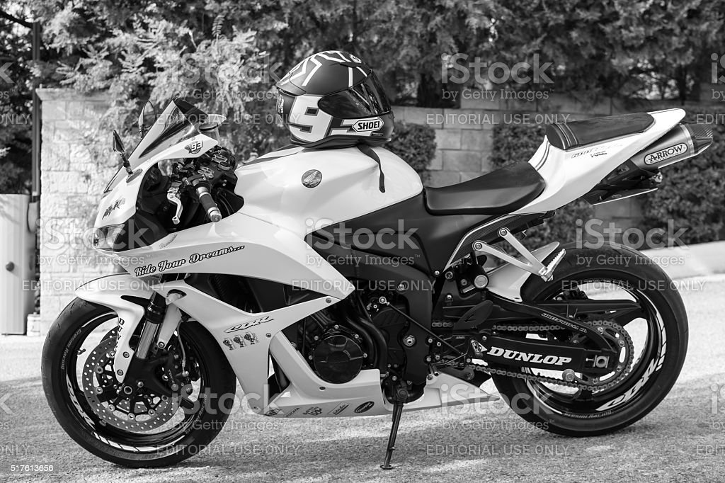 Honda 2007 CBR 1000RR motorcycle, photo shot outdoors on a parking...