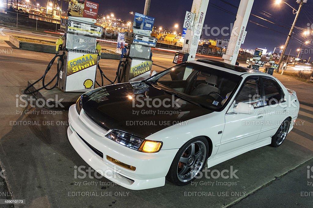 Honda at Shell Station royalty-free stock photo