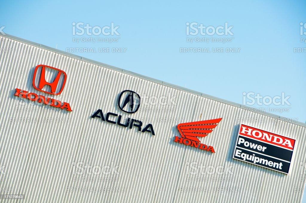Honda Brands on Office Building stock photo