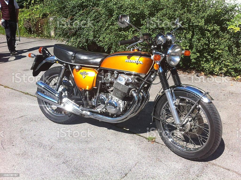 Honda Cb 750 Four Vintage Motorcycle Stock Photo - Download