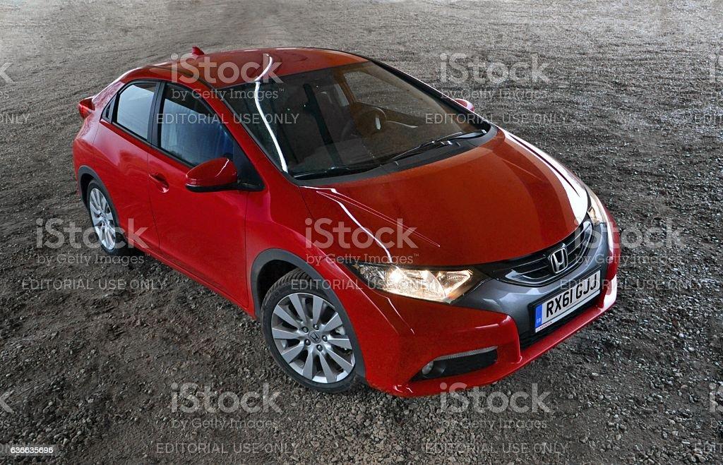Honda Civic on the parking stock photo