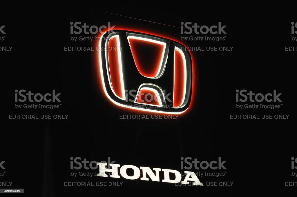 Honda logo royalty-free stock photo
