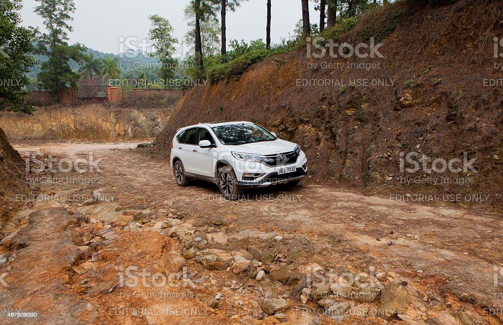 Honda model CRV 2015 car stock photo