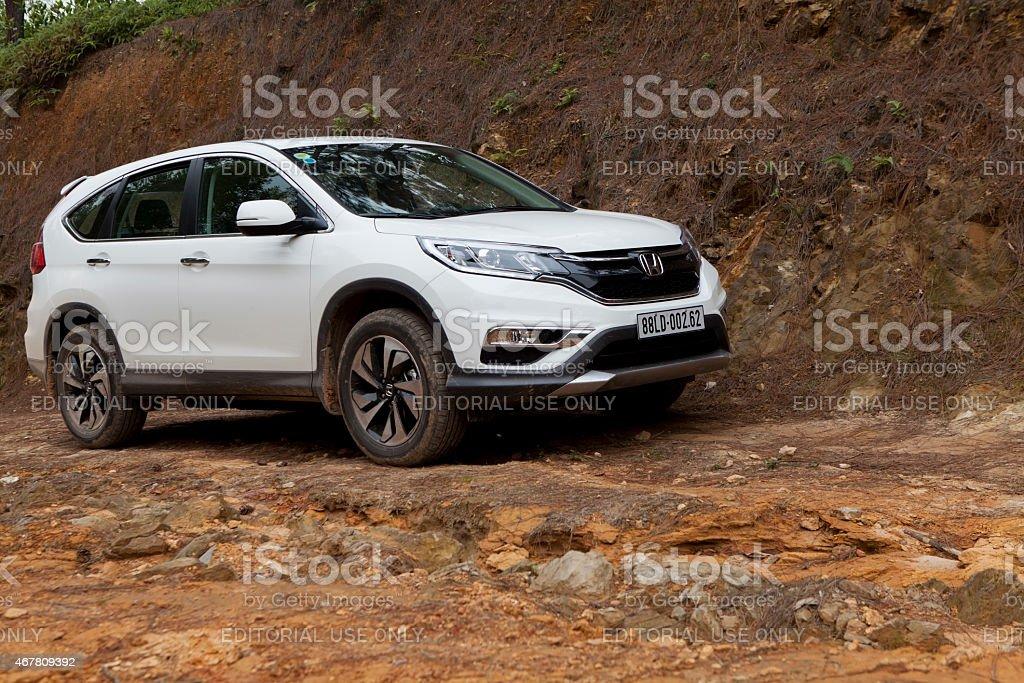 Honda model CRV 2015 car stock photo