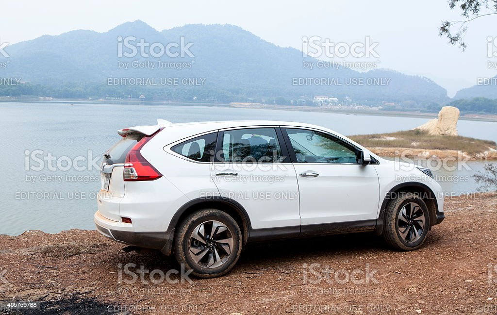 SUV Honda model CRV stock photo
