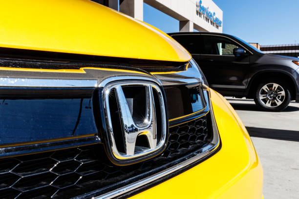 Honda Motor Co. Logo and Sign. Honda Manufacturers Among the Most Reliable Cars in the World III stock photo