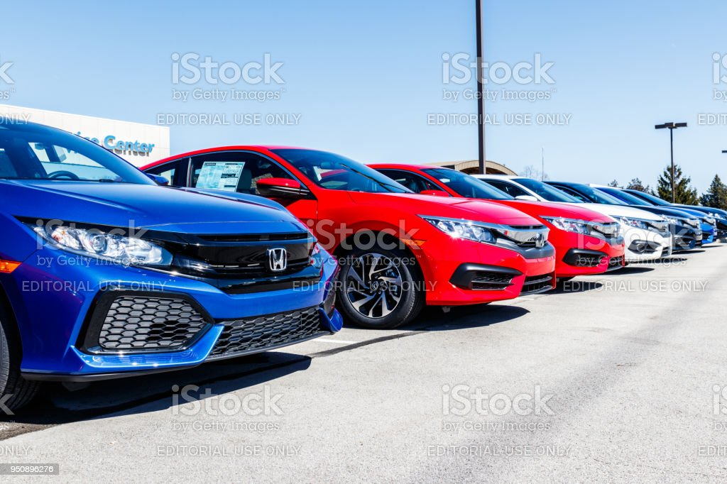 Honda Motor Co. Logo and Sign. Honda Manufacturers Among the Most Reliable Cars in the World II stock photo