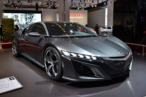 Honda NSX on the motor show stock photo