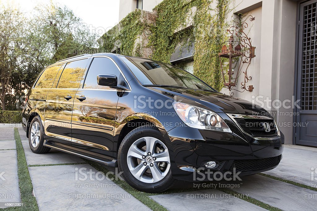 """Honda Odyssey 2009 """"Scottsdale, United States - February 24, 2012: A photo of a black 2009 Honda Odyssey, the Odyssey was introduced in 1995 and was Honda's first minivan."""" Adventure Stock Photo"""
