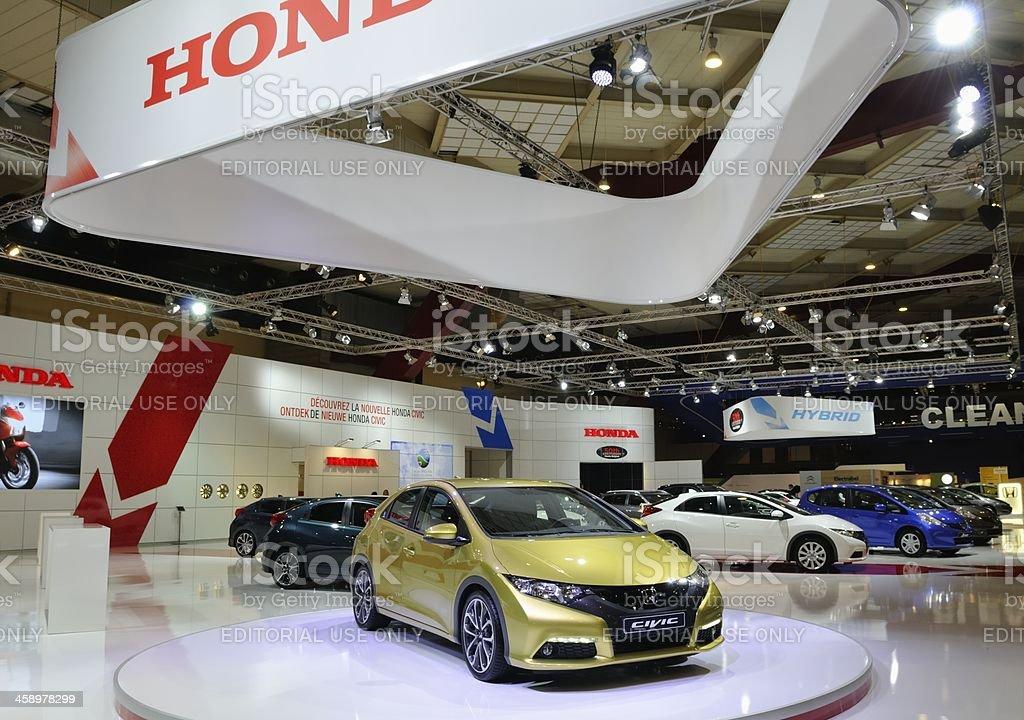 Honda stand royalty-free stock photo