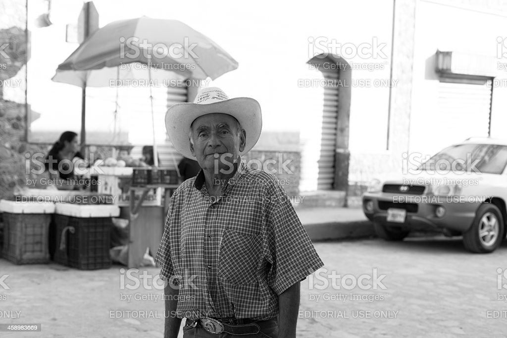Honduran elderly man stock photo