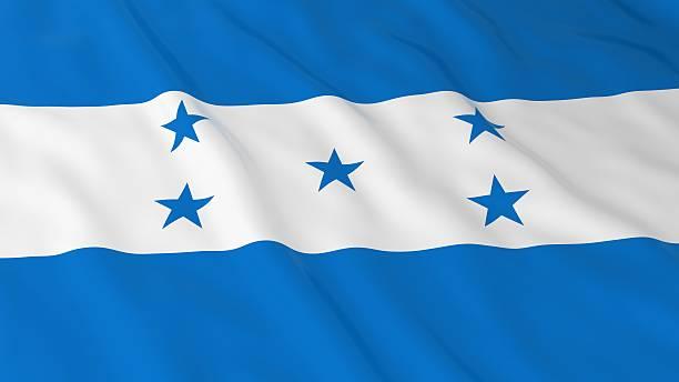 honduran flag hd background - flag of honduras 3d illustration - bandera de honduras fotografías e imágenes de stock