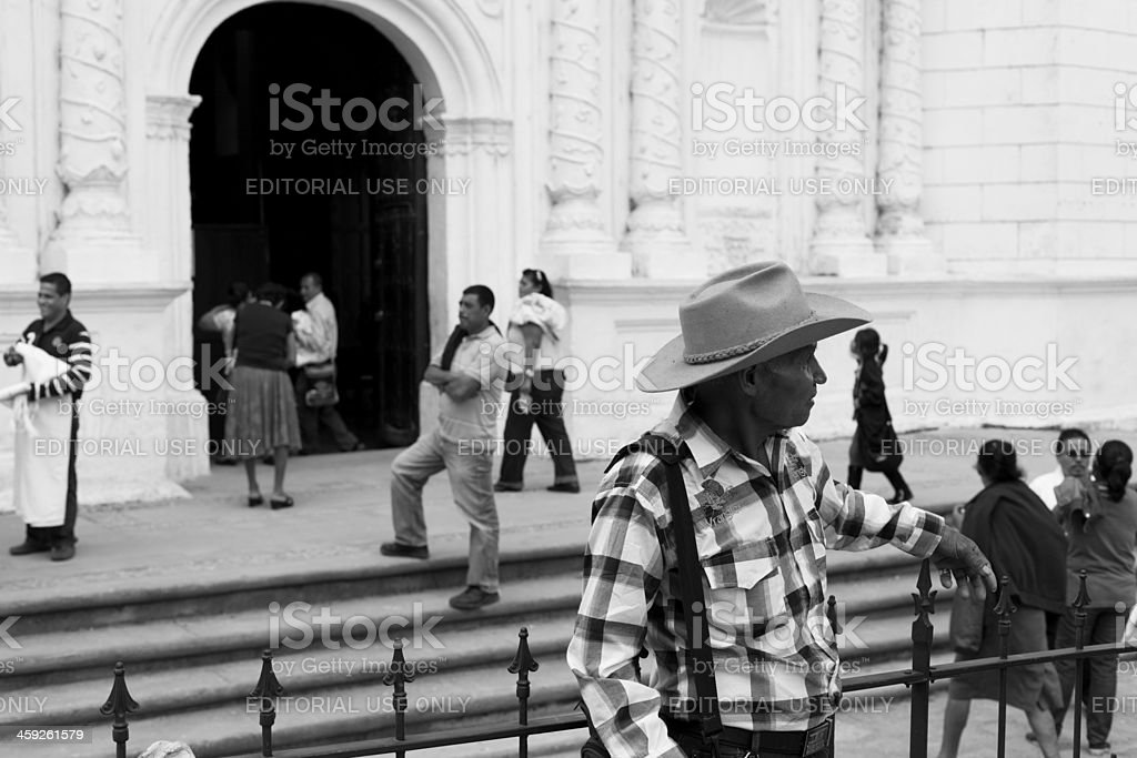 Honduran man stock photo