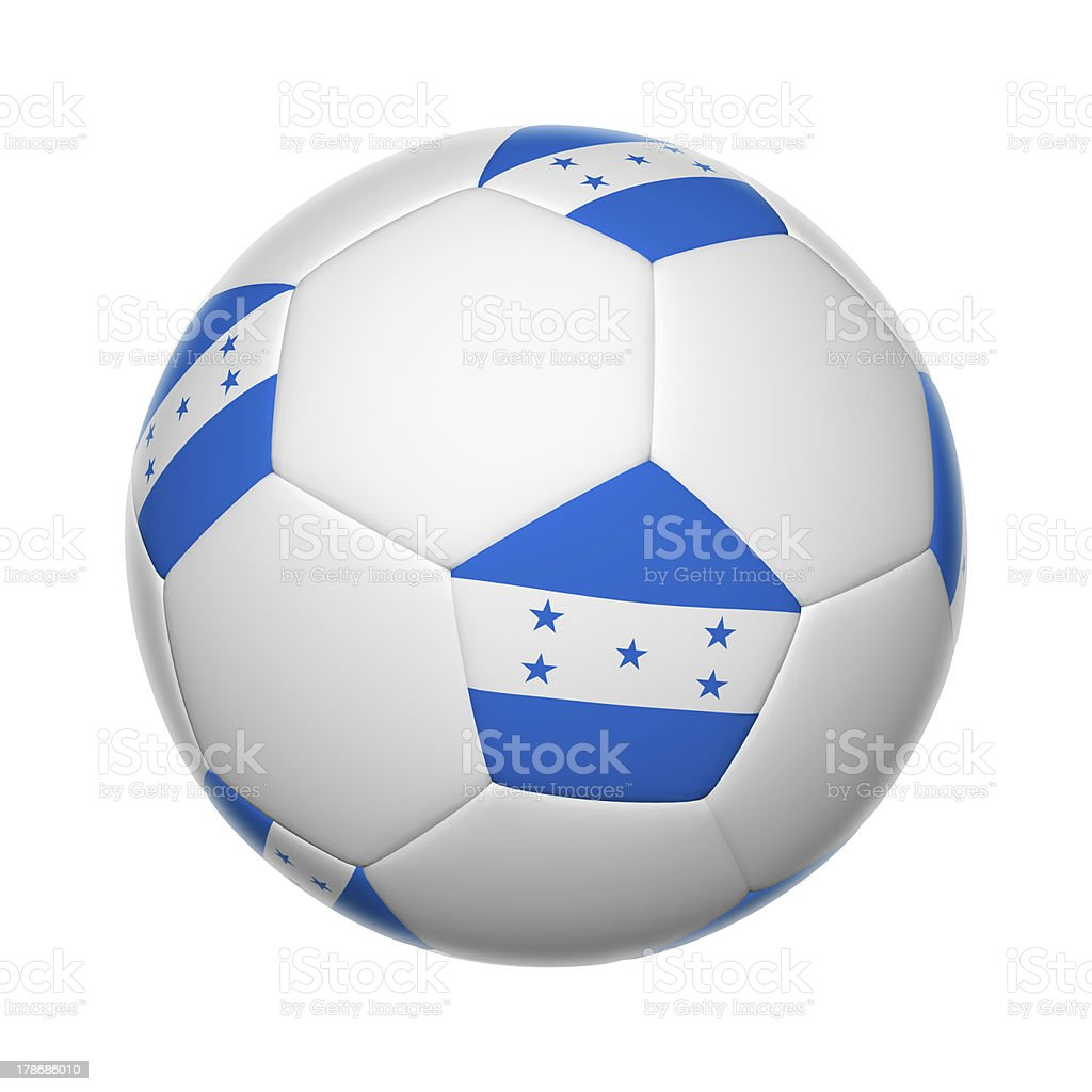 Honduran soccer ball stock photo