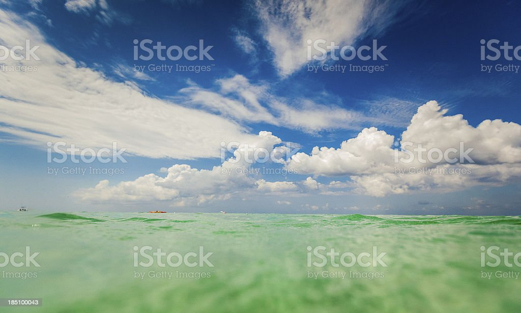 honduras beach sea escape stock photo