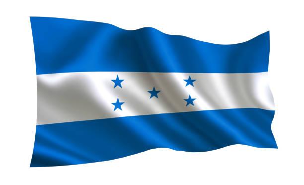 """bandera de honduras. una serie de """"banderas del mundo."""" (el país - bandera de honduras) - bandera de honduras fotografías e imágenes de stock"""